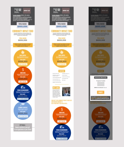 Mobile mockups of United Way workplace campaign website