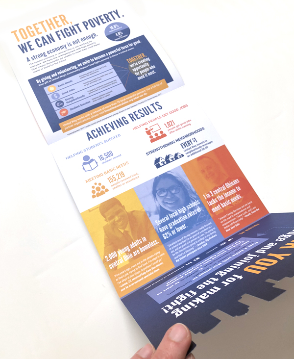 United Way brochure inside and unfolded