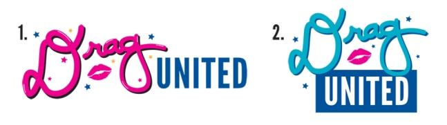Two alternate options for Drag United logo